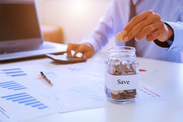 Savings plans for housing ,financial concept.