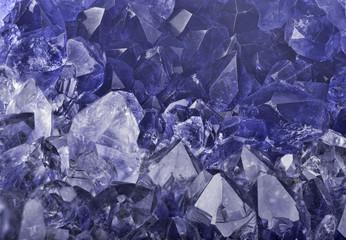 dark blue sapphire crystals macro backgrond