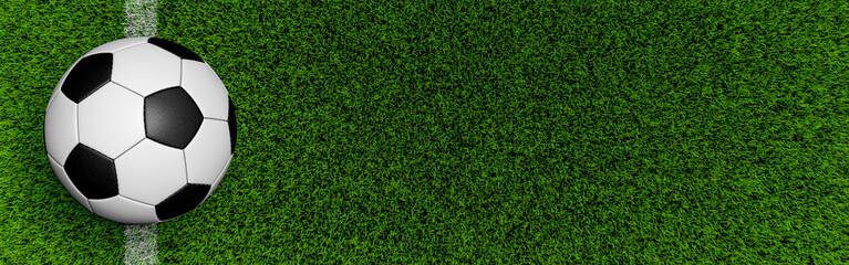 Fußball auf dem Spielfeld Hintergrund Banner
