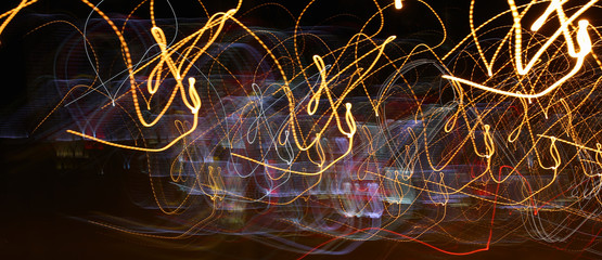 Abstract background lights of a night