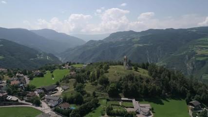 pretty nice 88da0 edb06 0 39 Aerial drone video of the city of Völs am Schlern Fié allo Sciliar on  the Italian