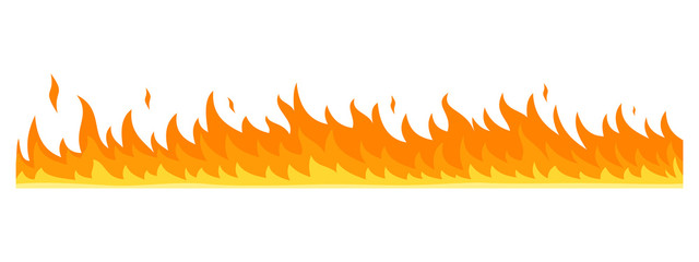 Flame banner horizontal. Flat illustration of vector flame banner horizontal for web design