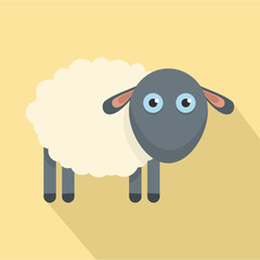 Cute sheep icon. Flat illustration of cute sheep vector icon for web design