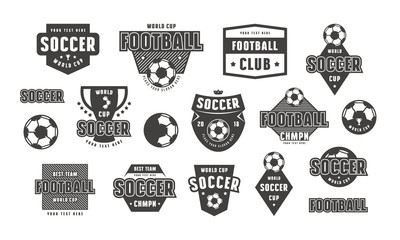Set of template emblem for soccer team