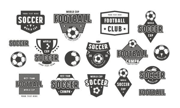Set of template emblem for soccer team