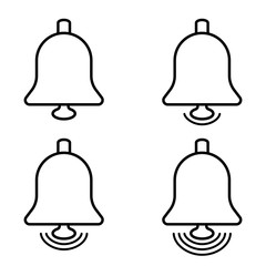 New message notification icon. bells set, social media design element, vector notification