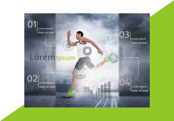 Fitness Diagram Layout with Green Accents