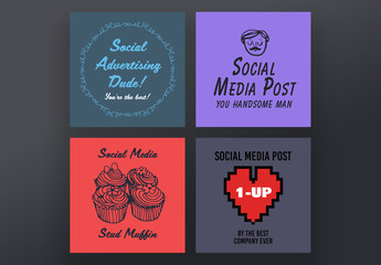 4 Social Media Post Layouts