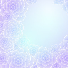 Beautiful purple pink rose flower background. EPS10 vector.