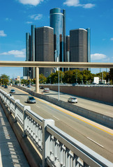 Freeway into Detroit