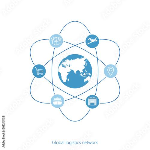 Global logistics network map global logistics partnership global logistics network map global logistics partnership connection white similar world map and logistics gumiabroncs Gallery