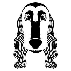 Silhouette of a cocker spaniel avatar