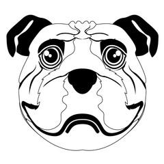 Silhouette of a bulldog avatar