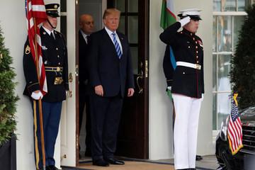 Trump greets Uzbekistan's Mirziyoyev at the White House in Washington