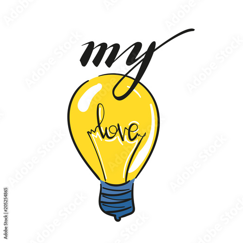 Light Bulb Symbol Of Heart And Love Symbol Of Innovation And Good