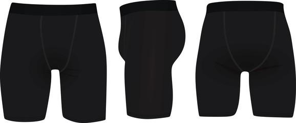 Black underwear. vector illustration