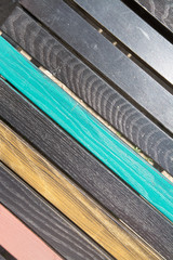 Texture from colored wooden slats