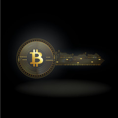 Bitcoin Cryptocurrency Coin Private Key Background