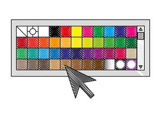 menu color palette graphic design vector illustration