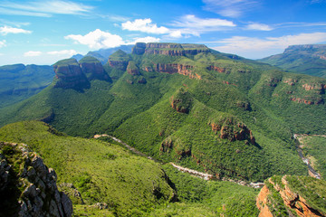 Three Rondawels viewpoint in the Blyde River Canyon, South Africa