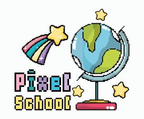 Pixel school art