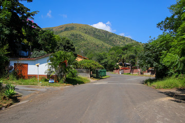 Residential area of Barberton in the Mpumalanga province of South Africa - Gold rush city of the 19th century next to the Makhonjwa Mountains