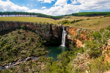 Berlin Falls in the Blyde River Canyon area, Mpumalanga district of South Africa