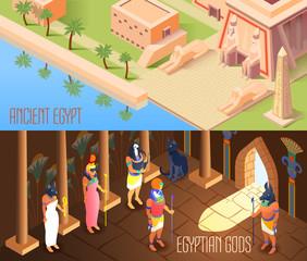 Isometric Egypt Banners
