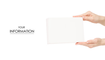 White box in hand pattern