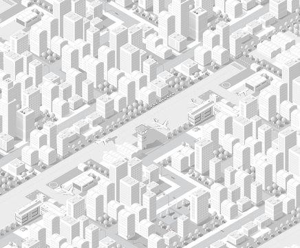 city on white design