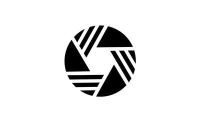 Shutter Lens Pattern Logo design inspiration