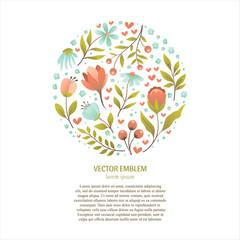Circle flower logo