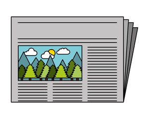 newspaper daily isolated icon vector illustration design