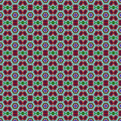Seamless decorative background in a bright colors