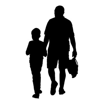 Father and son - concept for parenting and family life