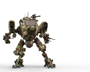 super war machine on green camouflage