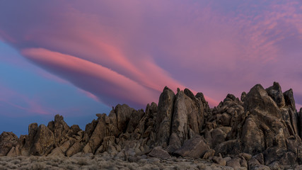Alabama Hills at sunrise, Lone Pine California