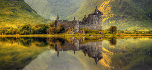 Canvas Prints Honey Kilchurn Castle
