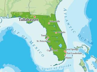 florida physical map