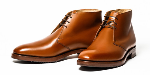 Brown leather men's shoes Wall mural