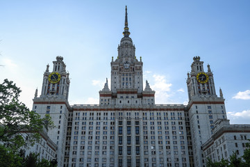 Moscow, Russia - May, 13, 2018: the image of Moscow state University