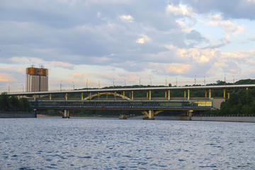 Moscow, Russia - May, 13, 2018: the image of a metro bridge in Moscow