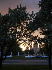 the image of Moscow state University
