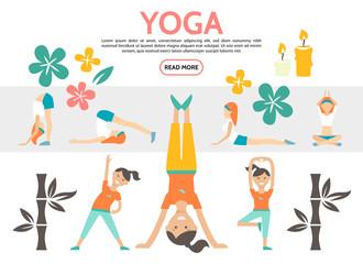 Flat Yoga Elements Set
