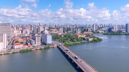 Panoramic view of the beautiful city of Recife/Brazil