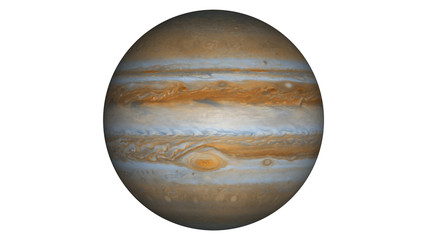 Isolated planet of Jupiter Illustration. This image is 3D rendering or illustration of giant planet of solar system Jupiter.