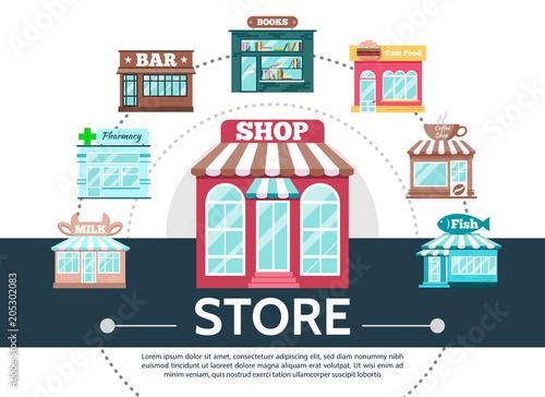 flat stores round template fotolia com の ストック画像とロイヤリティ