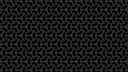 Abstract Vector Geometric Pattern With Black Background
