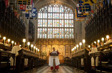 St. George's Chapel Choir rehearse before the wedding of Prince Harry and Meghan Markle in Windsor