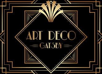 Geometric Gatsby Art Deco Background